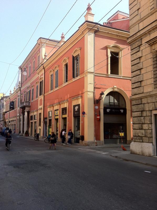 Main façade of the building on via Emilia