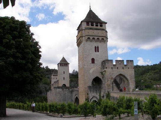 Cahors' UNESCO-protected Valentré bridge