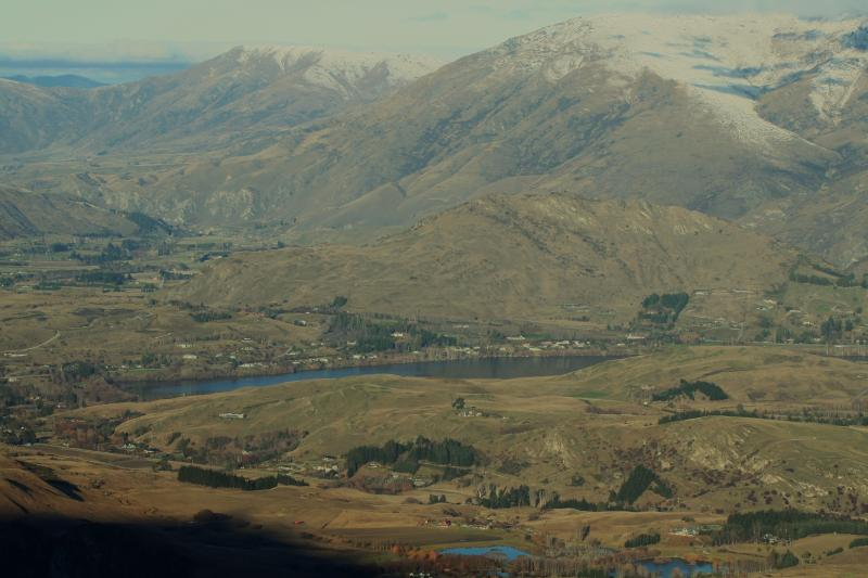 View of Dalefield from Coronet Peak. Speargrass Rise located between the pines below.