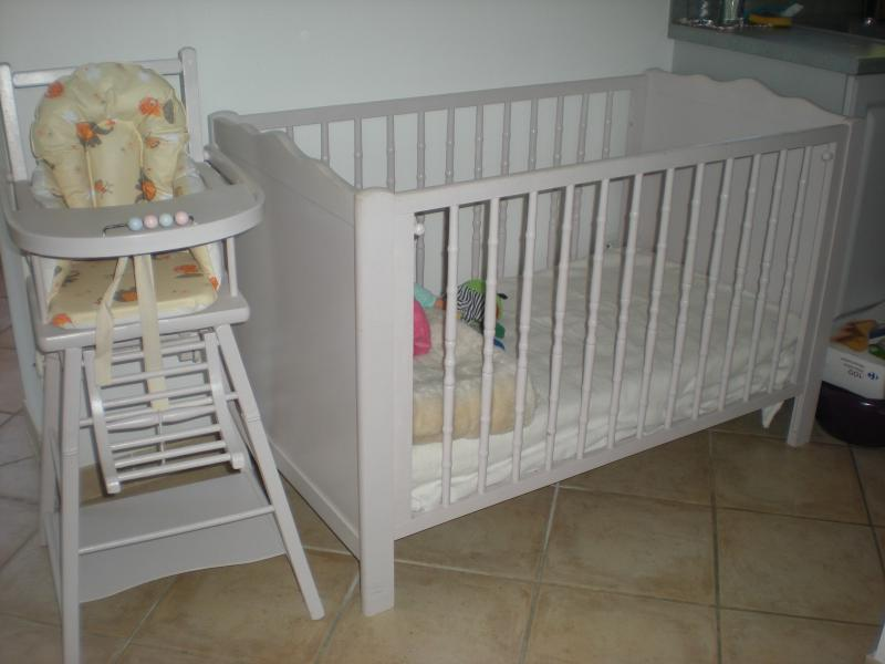 bed BB up to 3 1/2 years and high chair