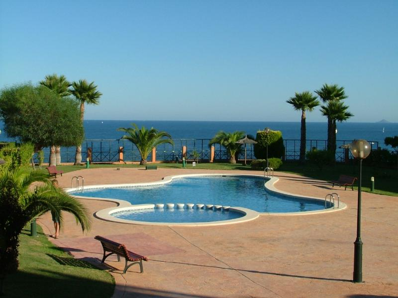 The pool over looking the Med!