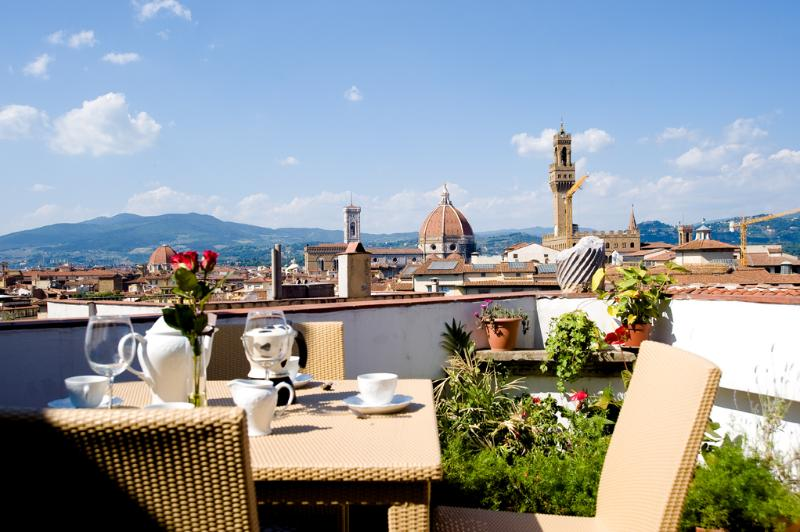 Roof terrace with breathtaking view