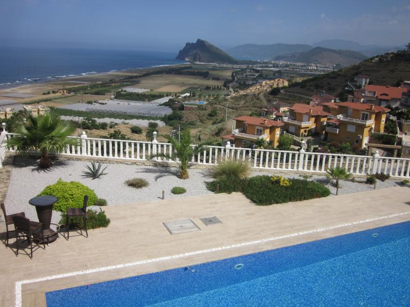 View over the pool to the sea