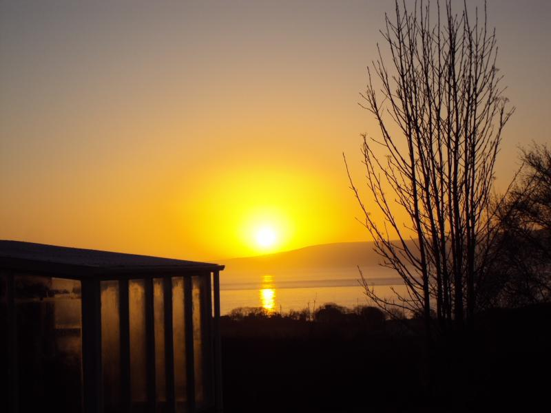 Sunrise in front of the house (Lough Foyle)