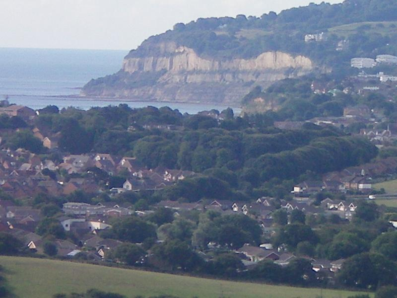Shanklin from Brading downs