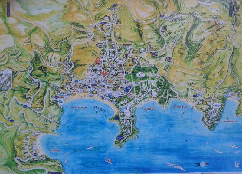 Agia Pelagia is one of the bays around the area.