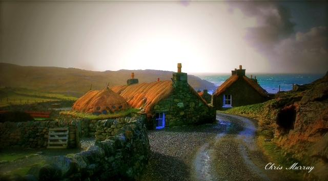 Blackhouse Village at Garenin, houses were occupied until early 1970, (Chris Murray, Sty)
