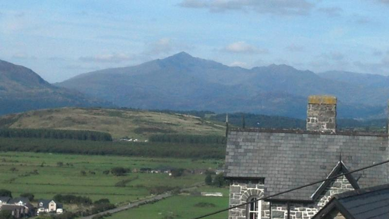 View of Snowdon from bay window
