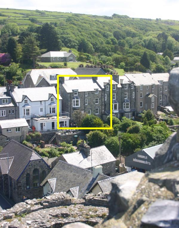 House from Harlech Castle