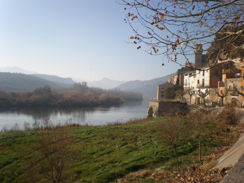 The river Ebro at Miravet where you can vist a medieval castle over looking the river