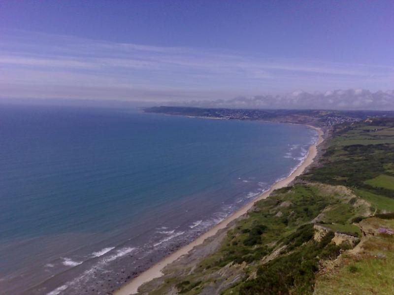 Exceptional view from Golden Cap, the highest point on the south coast, and in Chideock