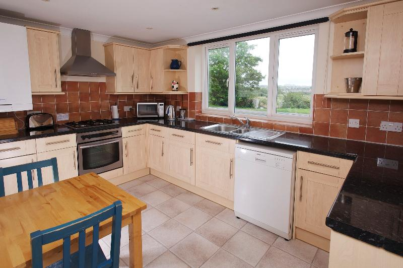 Fully fitted kitchen with amazing views of the Jurassic Coast