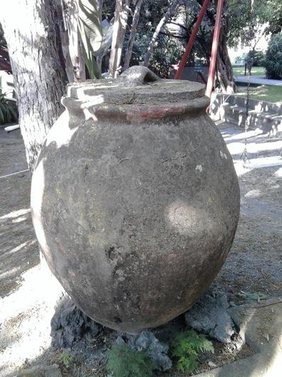 Phoenician amphora in the garden