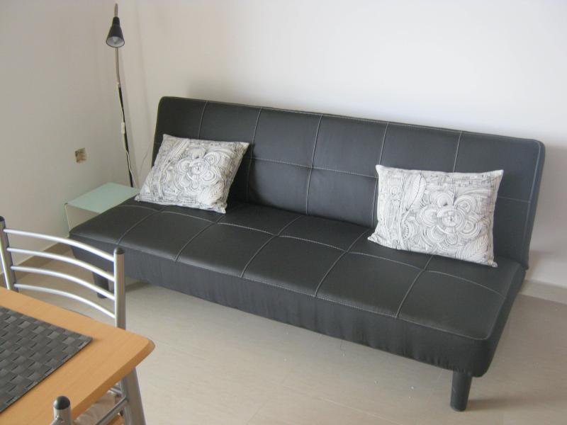 Sofa bed in living area