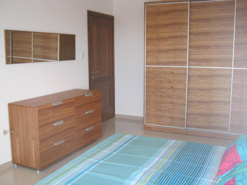 Fully airconditioned main bedroom with ensuite bathroom