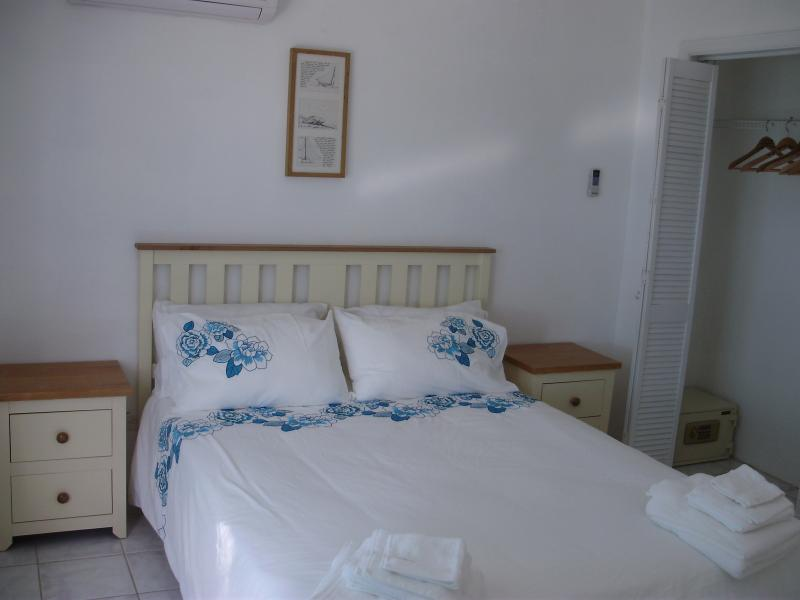 The lower apartment has one large double and two singles, both bedrooms have ensuite bathrooms