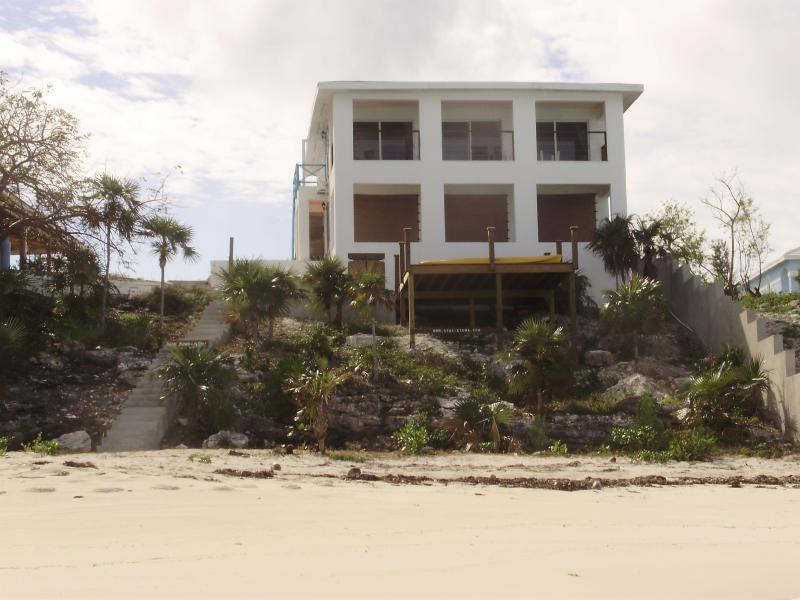 The view of the apartments from the beach