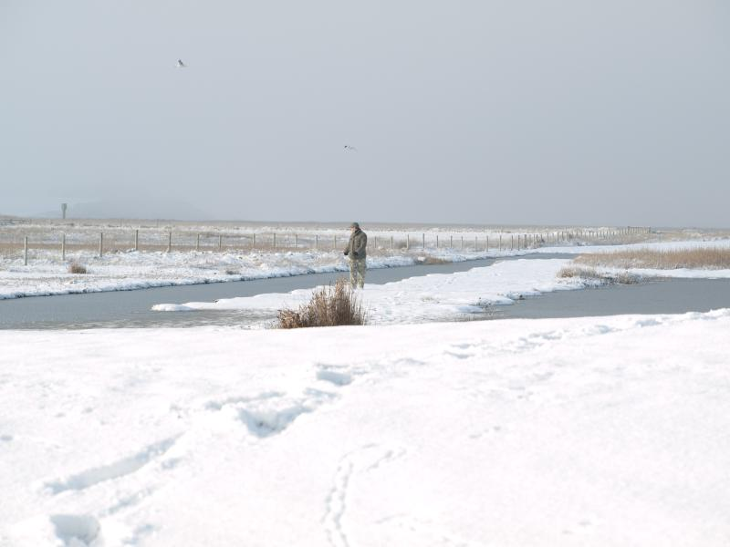 Taking photos in the winter at Salthouse.