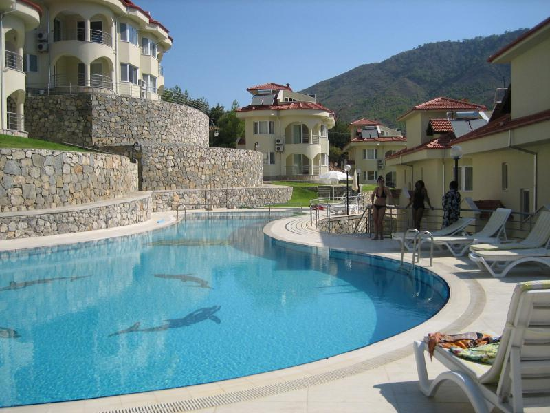 Villa in centre of picture is ideally located for the pool