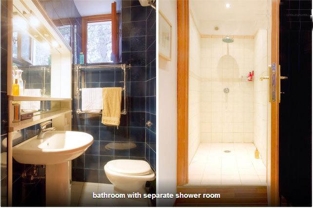 Pequena casa de banho com duche separado-grande