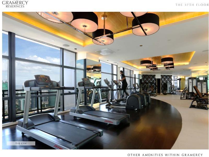 Centro de fitness no 36º andar