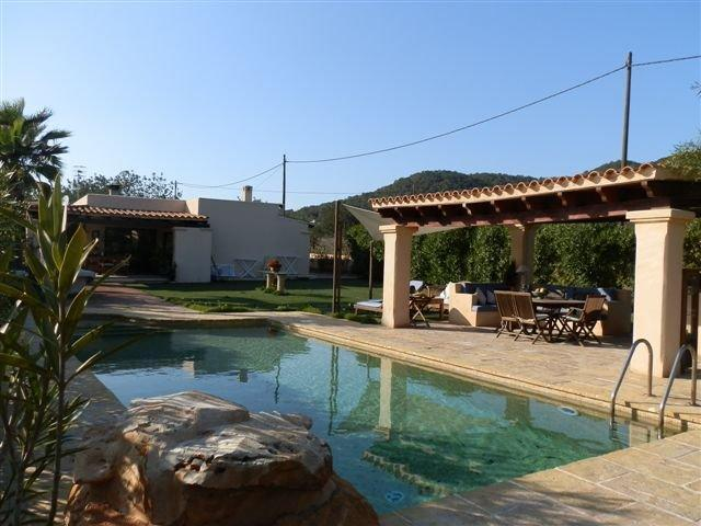 View to chill-out and pool