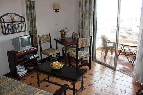 sitting room looking toward balcony