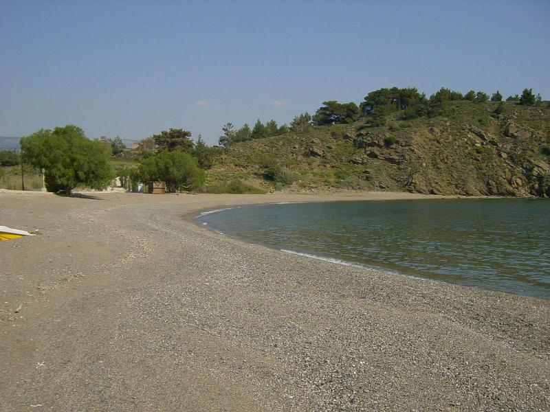 Lefkathia Beach one of the three nearest beaches to the village and the house