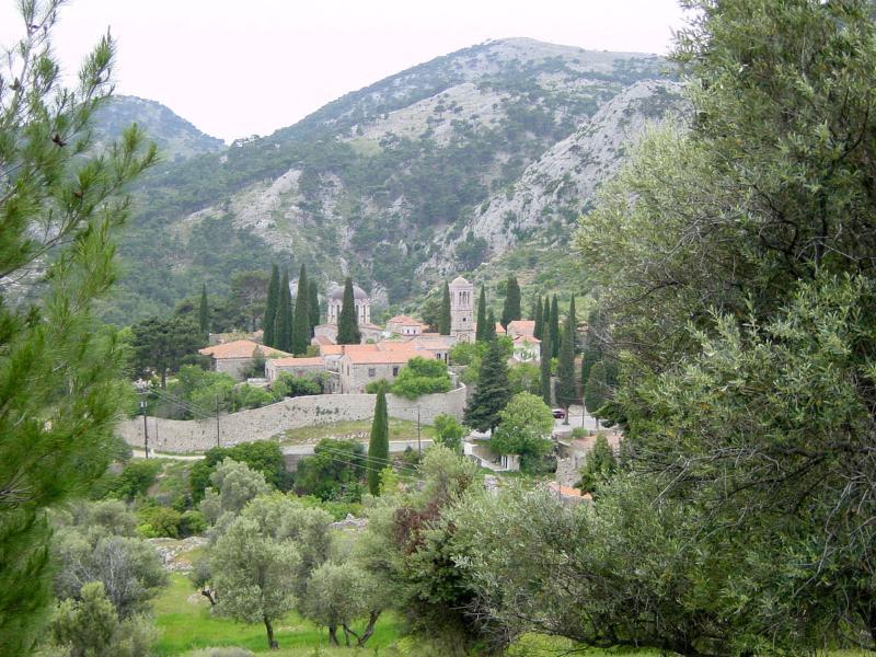 A view of the 11th Centuary Byzantine Monastery of Nea Moni