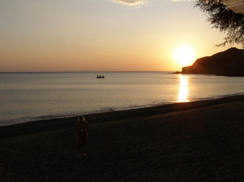 Sunset from one of the tavernas on Limnos Beach
