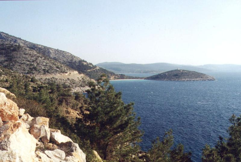 Taking the coast road south from Volissos