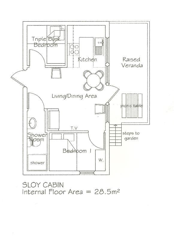 Plan de piso de la cabina