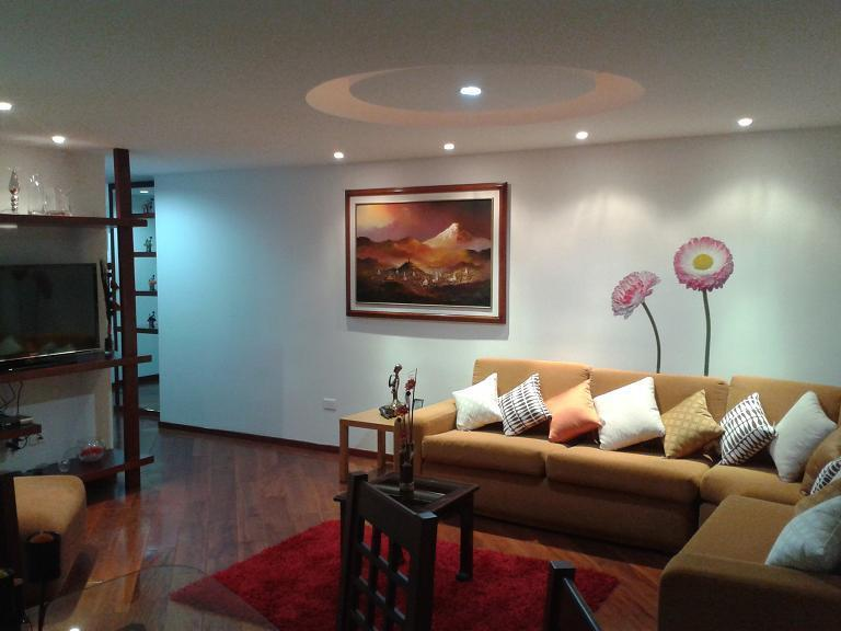MAIN LIVING ROOM WITH SAT TV / SALA PRINCIPAL CON TELEVISION SATELITAL