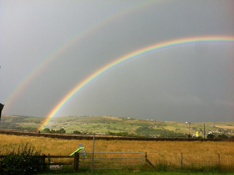 View from cottage garden, we get a lot of rainbows