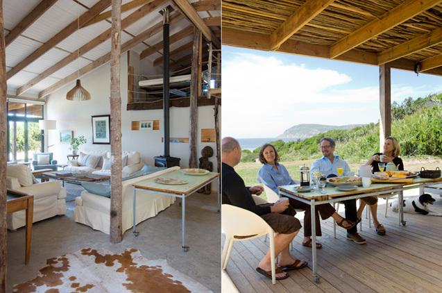 BEACH CABIN LIFESTYLE: large open plan living area and veranda with ocean view