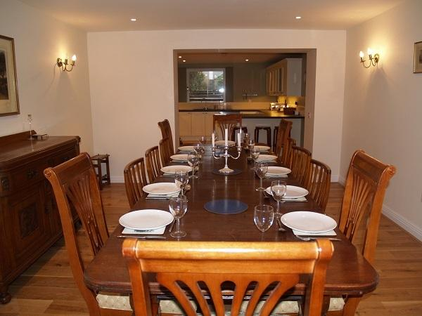 Dining table with ample seating for 12