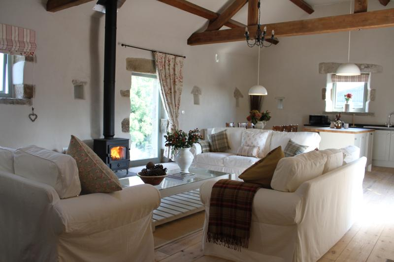 Welcome to Winnow Barn - the large open plan living area with spectacular vaulted ceiling.