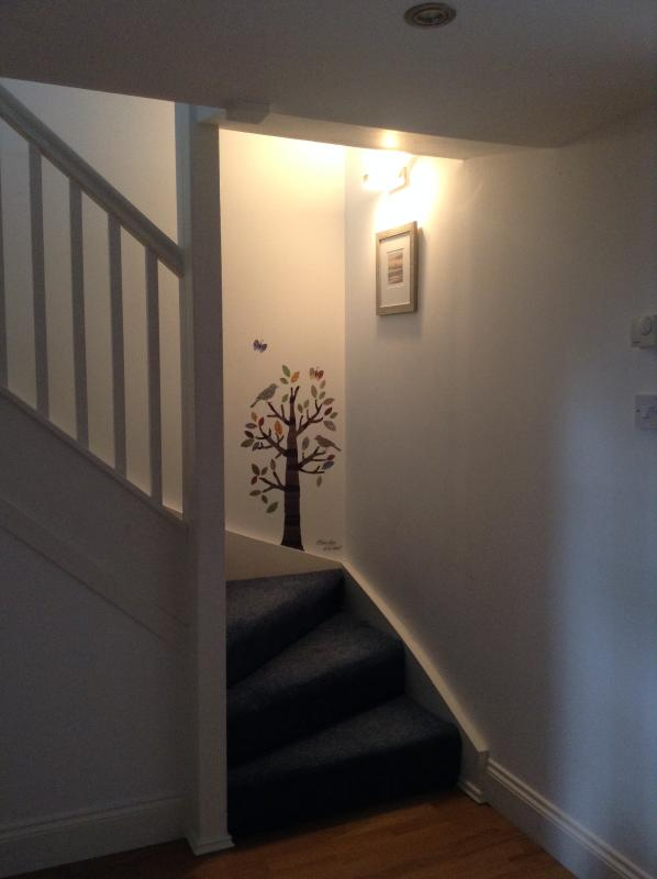 Stairs to upper floors.