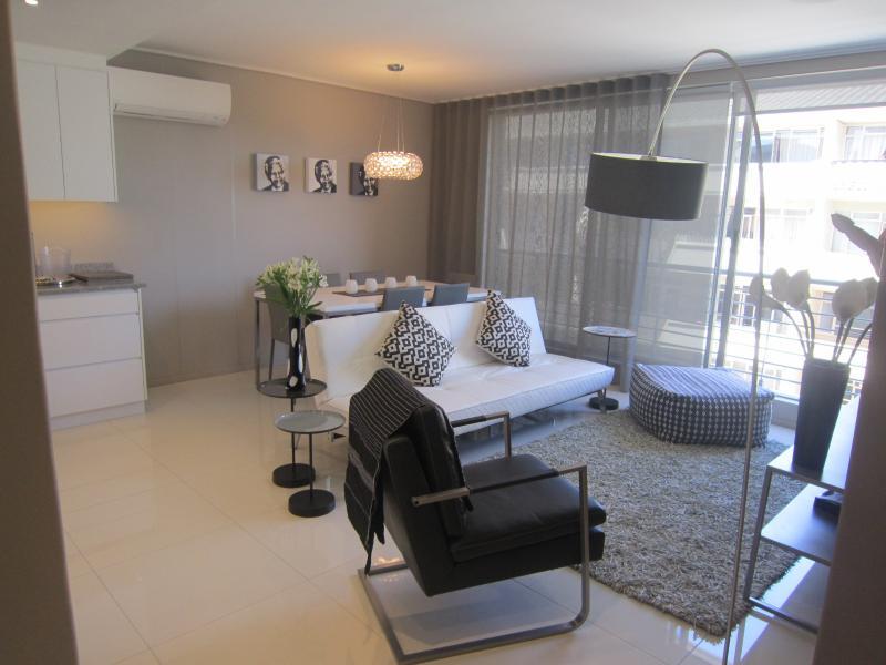 View from front door- open plan living  area