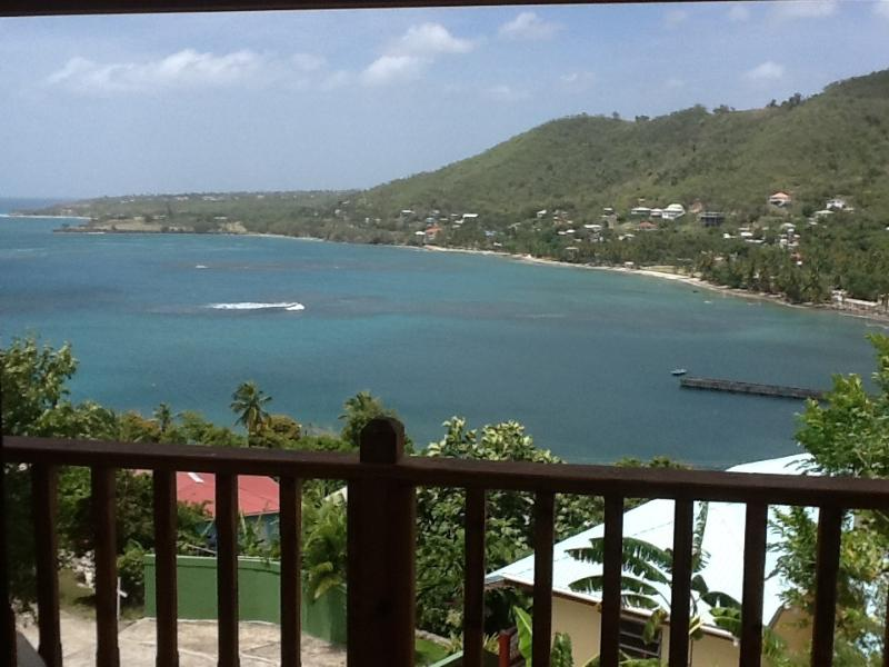 View from the balcony Looking towards the ocean and village