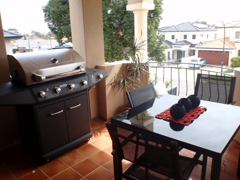 Balcony and Barbeque area