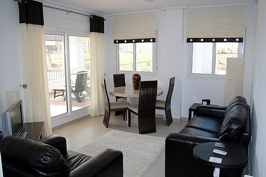 Ground Floor Apartment Golf Views Large South West Corner Patio, holiday rental in Balsicas