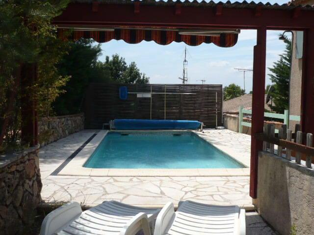 The private pool with Mediterranean garden. The private pool