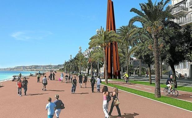 Promenade des anglais ( location de vélos bleus dans tout Nice).