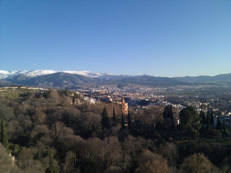 View from the Alhambra-you can see Sierra Nevada