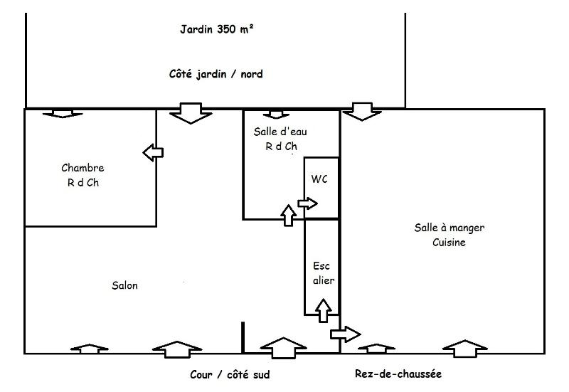 Pattern of the distribution of the coins in the cottage, ground floor.