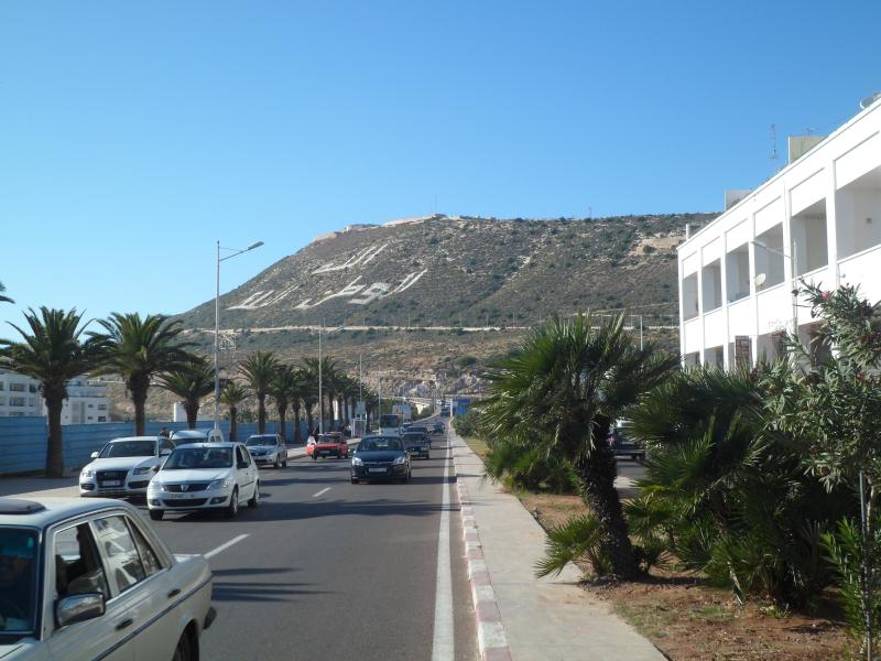 view of street to the beach