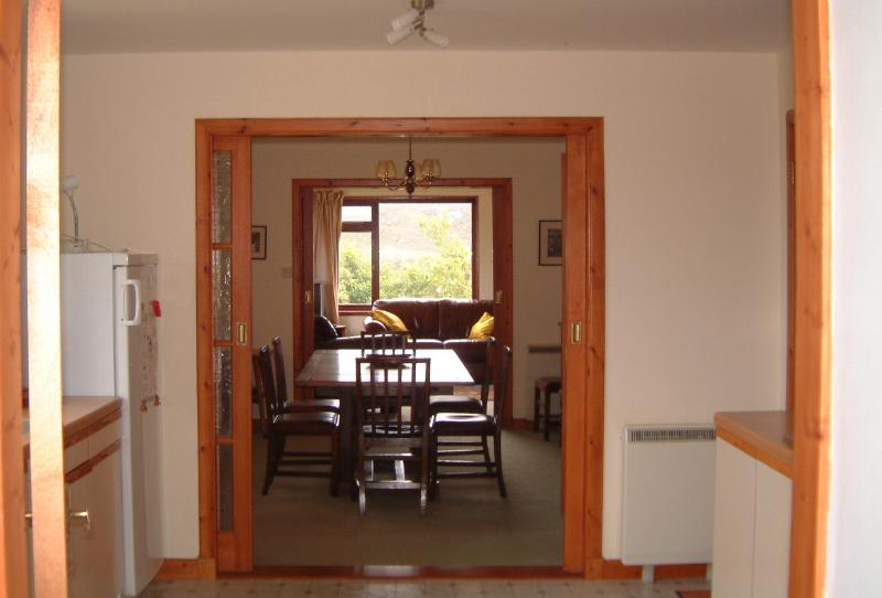 View from Kitchen through Dining Room