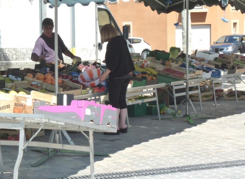 Market stall in Villeneuve