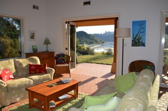 Enjoy the beautiful view of Lake Ohakuri from the lounge.